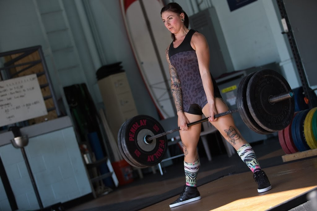 Wearing Women's Weightlifting Singlets