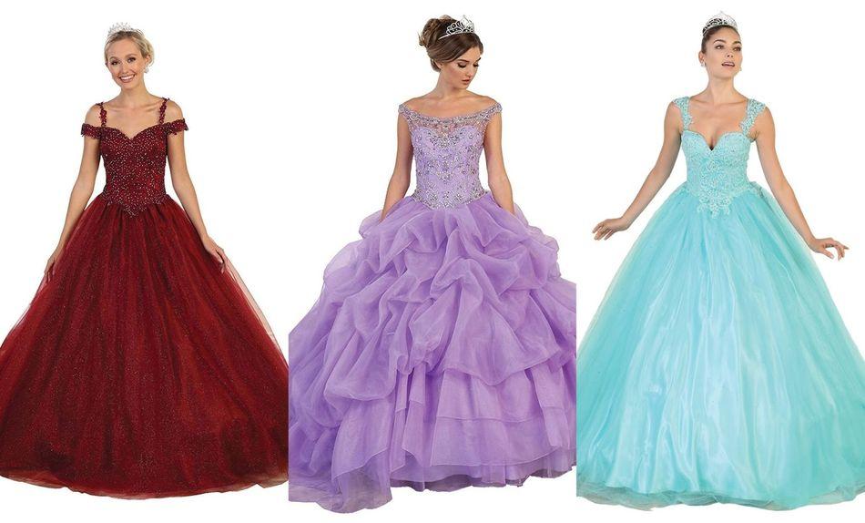 glamorous quinceanera dresses